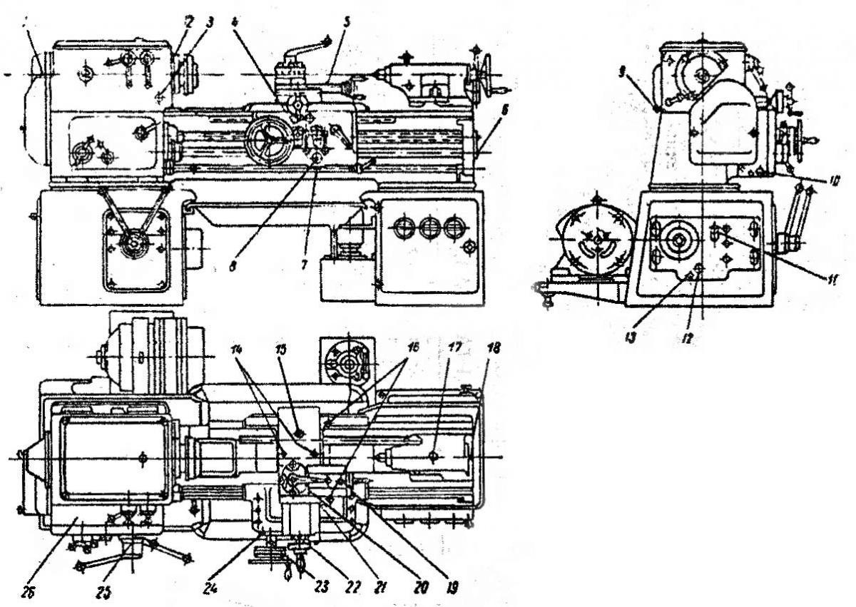 Токарный станок 1а616 схема коробка передач