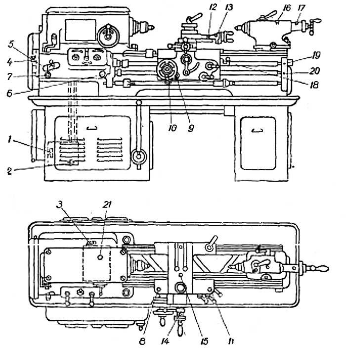 1Е61М схема смазки
