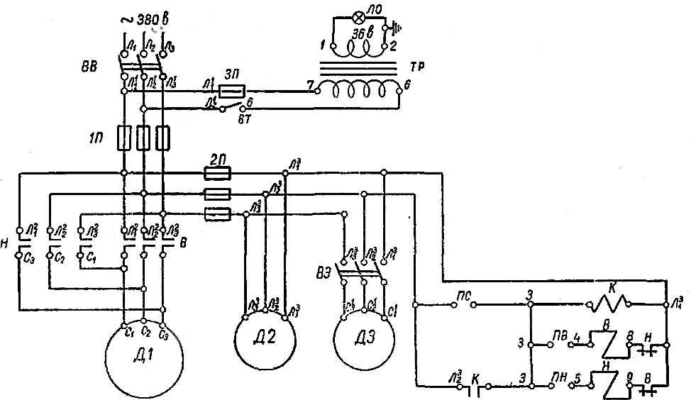 1е61м схема электрическая