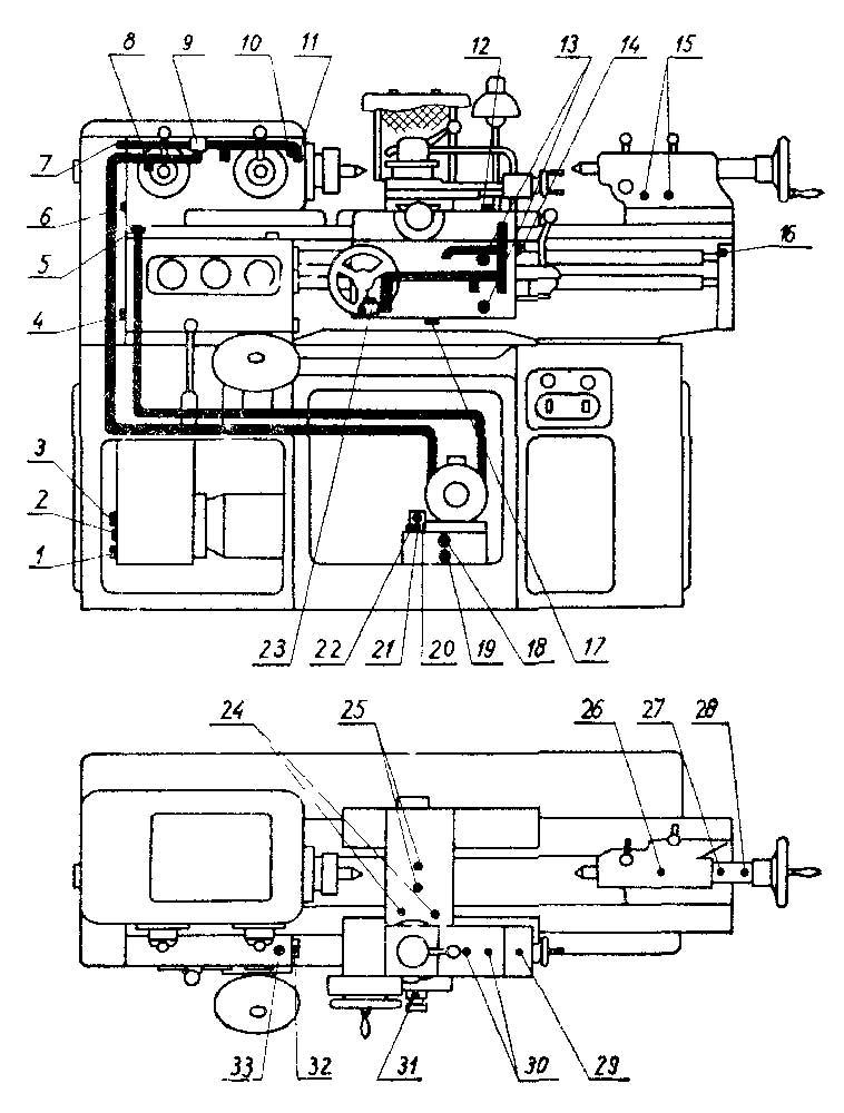 1и611п схема смазки станка