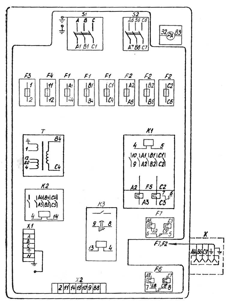 1к62 схема электрошкафа