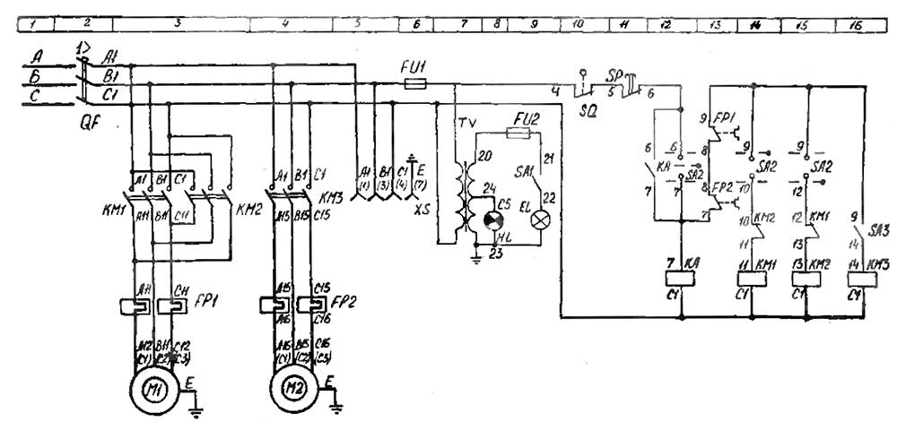 Рисунок - схема станка ИТ 1М